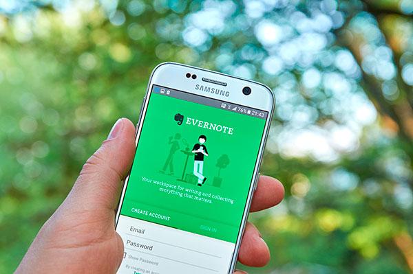 Organizar férias com o aplicativo Evernote